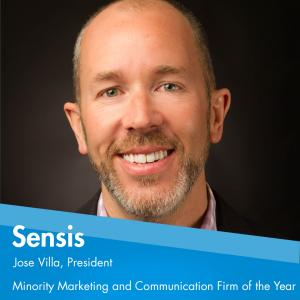 2018 Minority Marketing and Communications Firm of the Year is presented to Sensis.