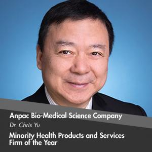 Minority Health Products and Services Firm of the Year is presented to Anpac Bio-Medical Science Company